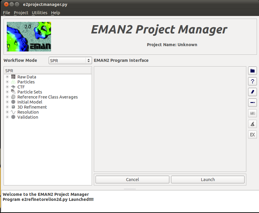 EMAN2 Project Manager